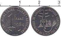 Изображение Монеты Западно-Африканский Союз 1 франк 1984 Медно-никель UNC