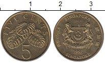 Изображение Монеты Сингапур 5 центов 1997 Латунь XF