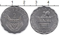 Изображение Монеты Руанда 2 франка 1970 Алюминий XF