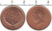 Изображение Монеты Самоа 2 сене 2000 Бронза UNC- ФАО.