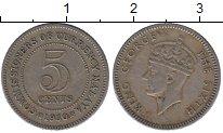 Изображение Монеты Малайя 5 центов 1950 Медно-никель XF