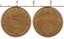 Изображение Монеты Третий Рейх 5 пфеннигов 1937 Латунь XF F.