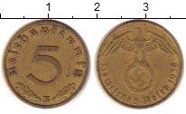 Изображение Монеты Третий Рейх 5 пфеннигов 1938 Латунь XF E.