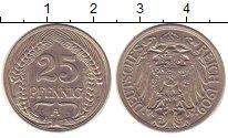 Изображение Монеты Германия 25 пфеннигов 1909 Медно-никель XF