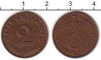 Изображение Монеты Третий Рейх 2 пфеннига 1940 Бронза XF E.