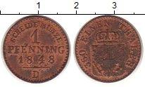 Изображение Монеты Германия Пруссия 1 пфенниг 1848 Медь XF+