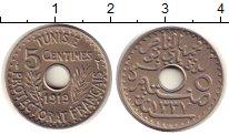 Изображение Монеты Тунис 5 сентим 1919 Медно-никель UNC-