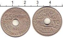 Изображение Монеты Тунис 25 сентим 1920 Медно-никель XF