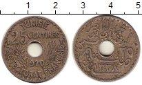 Изображение Монеты Тунис 25 сентим 1920 Медно-никель VF