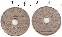 Изображение Монеты Тунис 25 сентим 1919 Медно-никель XF