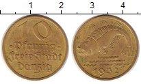Изображение Монеты Данциг 10 пфеннигов 1932 Латунь XF+