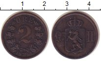 Изображение Монеты Норвегия 2 эре 1884 Медь XF