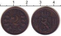 Изображение Монеты Норвегия 2 эре 1884 Медь XF Оскар II.