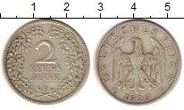 Изображение Монеты Веймарская республика 2 марки 1926 Серебро XF E