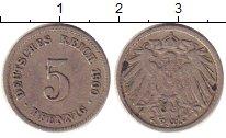Изображение Монеты Германия 5 пфеннигов 1900 Медно-никель XF
