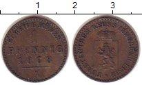 Изображение Монеты Рейсс 1 пфенниг 1868 Медь XF