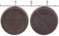 Изображение Монеты Германия Рейсс 1 пфенниг 1868 Медь XF