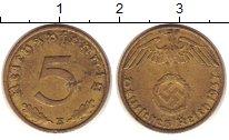 Изображение Монеты Третий Рейх 5 пфеннигов 1937 Латунь XF E.