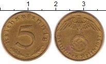 Изображение Монеты Третий Рейх 5 пфеннигов 1937 Латунь XF