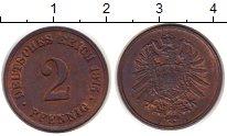 Изображение Монеты Германия 2 пфеннига 1875 Медь XF+