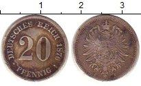 Изображение Монеты Германия 20 пфеннигов 1876 Серебро XF