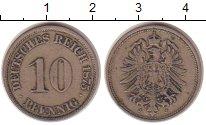 Изображение Монеты Германия 10 пфеннигов 1875 Медно-никель XF