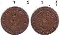 Изображение Монеты Третий Рейх 2 пфеннига 1940 Бронза XF Е