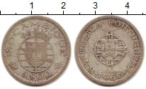 Изображение Монеты Мозамбик 5 эскудо 1960 Серебро VF