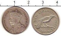 Изображение Монеты Новая Зеландия 6 пенсов 1934 Серебро XF
