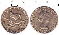 Изображение Монеты Новая Зеландия 1 шиллинг 1965 Медно-никель UNC-