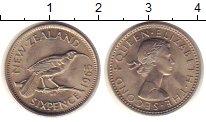 Изображение Монеты Новая Зеландия 6 пенсов 1965 Медно-никель UNC-
