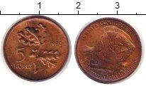 Изображение Монеты Турция 5 куруш 1980 Бронза UNC-