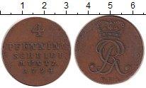 Изображение Монеты Ганновер 4 пфеннига 1794 Медь XF Вензель