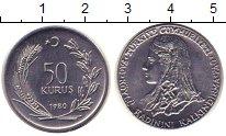Изображение Монеты Турция 50 куруш 1980 Сталь UNC-