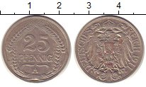 Изображение Монеты Германия 25 пфеннигов 1911 Медно-никель XF