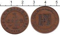 Изображение Монеты Вестфалия 3 сентима 1810 Медь VF