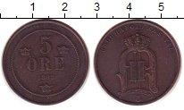 Изображение Монеты Швеция 5 эре 1898 Бронза XF