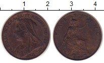 Изображение Монеты Великобритания 1 фартинг 1897 Бронза XF