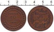 Изображение Монеты Тунис 10 сантим 1916 Бронза XF