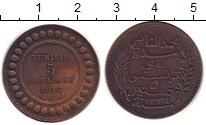 Изображение Монеты Тунис 5 сентим 1916 Бронза XF