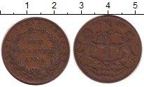 Изображение Монеты Индия 1/4 анны 1858 Медь XF-