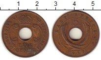 Изображение Монеты Великобритания Восточная Африка 5 центов 1937 Бронза XF