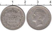 Изображение Монеты Португалия 100 рейс 1910 Серебро XF Эмануил II