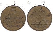 Изображение Монеты Польша Данциг 5 пфеннигов 1932 Латунь XF