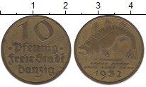 Изображение Монеты Данциг 10 пфеннигов 1932 Латунь XF
