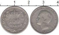 Изображение Монеты Португалия 100 рейс 1910 Серебро VF Эмануил II
