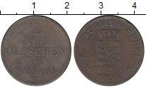 Изображение Монеты Саксония 2 гроша 1854 Серебро VF