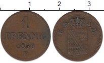 Изображение Монеты Саксен-Майнинген 1 пфенниг 1859 Медь XF