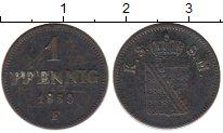 Изображение Монеты Саксен-Майнинген 1 пфенниг 1859 Медь VF