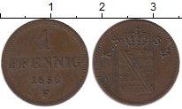 Изображение Монеты Саксен-Майнинген 1 пфенниг 1856 Медь XF